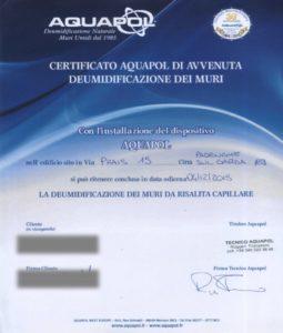certificato umidità di risalita padenghe