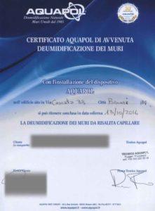 certificato umidità di risalita a branzi