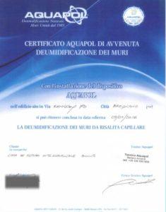 certificato di umidità di risalita risolta