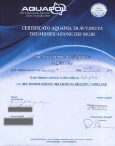 certificato aquapol