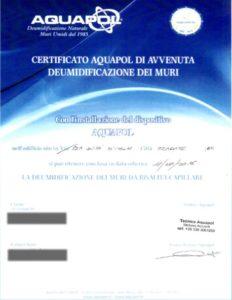 certificazione aquapol
