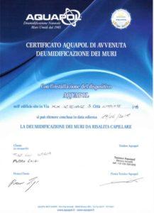 casa con umidità di risalita limbiate certificato